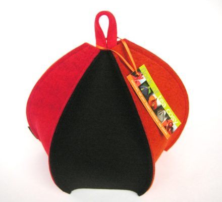 Multi Paneled Wool Felt Tea Cozy