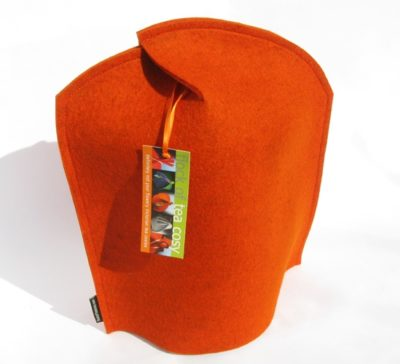 Modern wool felt coffee cosy