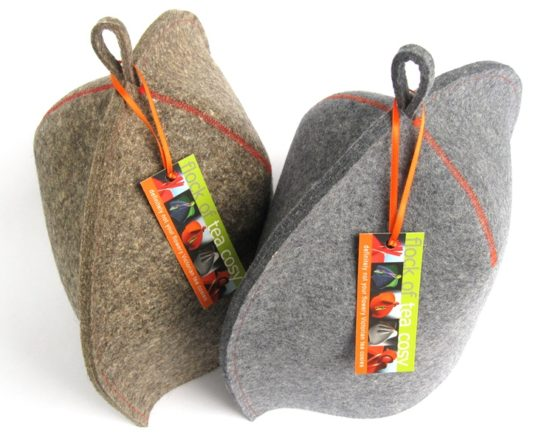 Industrial wool felt modern tea cozies