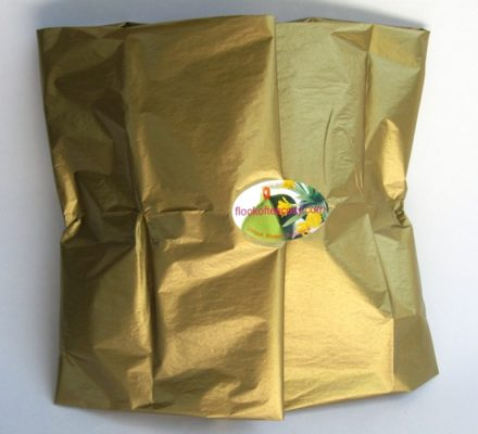 Tea Cosy Gift wrapped in gold tissue