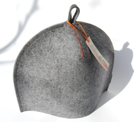 Standard size modern tea cozy in industrial wool felt