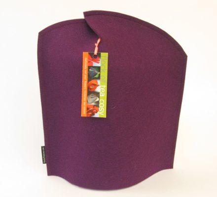 Modern French Press Coffee Cozy in Purple wool felt