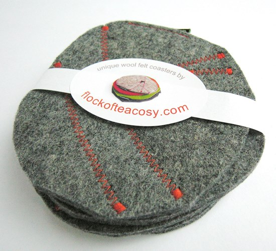 Wool felt coaster set
