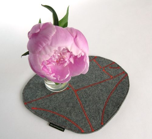 Elegant eco-concious mousepad in industrial felt