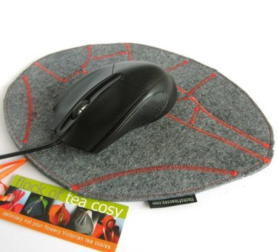 Eco concious designer mouse pad wool felt