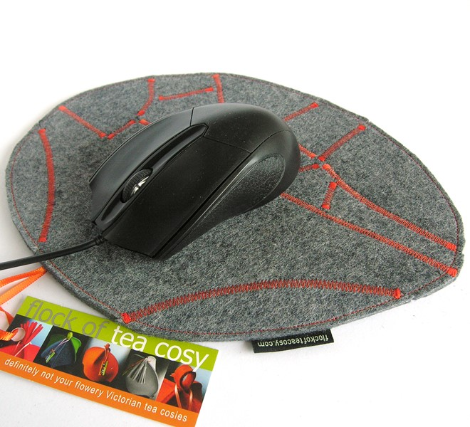 Eco concious designer mouse pad wool felt