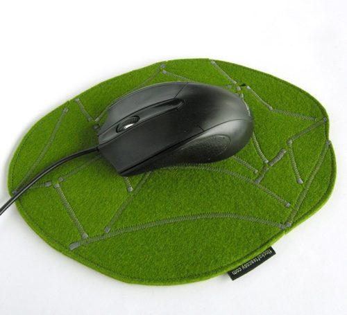 Round mousepad in wool felt