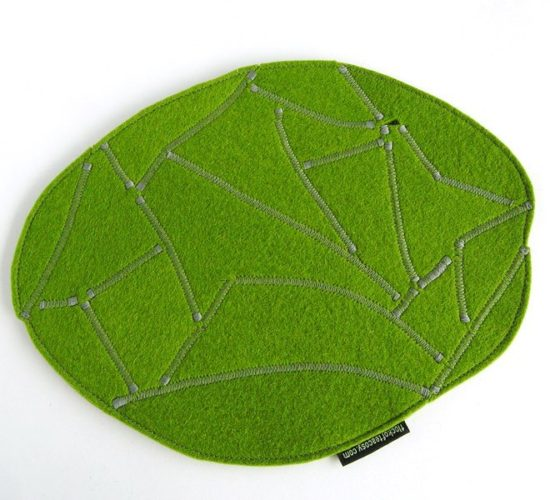 Mousepad organic shape in Moss Green
