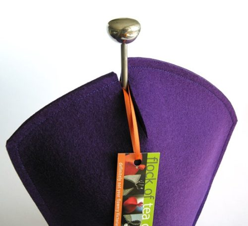 Coffee Cosy for 12cup french press Chambord by Bodum in Royal Purple wool felt