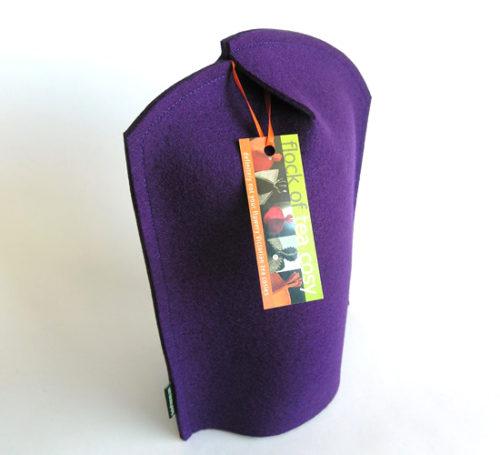 Modern 8cup coffee cosy in Royal Purple wool felt