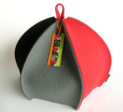 Colourful expandable large tea cosy in wool felt