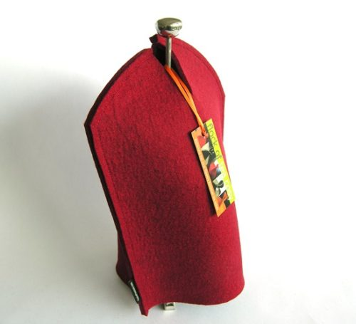 Modern coffee cozy with top opening for Chambord french press