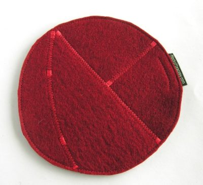 Eco conscious teapot trivet or hotpad made from recycled offcuts